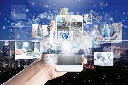 sociaal netwerken dienstverleningsconcept. - Afbeelding Stockfoto