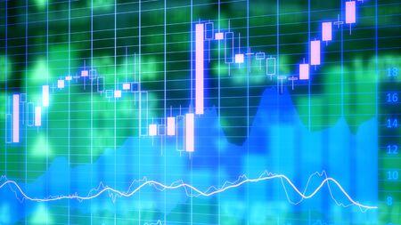 Stock market digital graph chart Stock fotó
