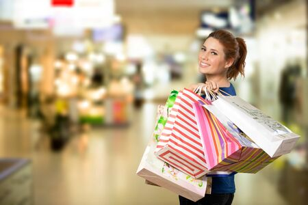 Young woman with shopping bags Stock fotó