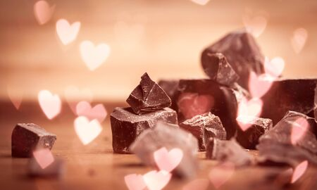 Dark Chocolate Blocks and Pieces
