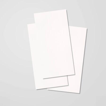Bi-fold Brochure Open White Blank Stock fotó