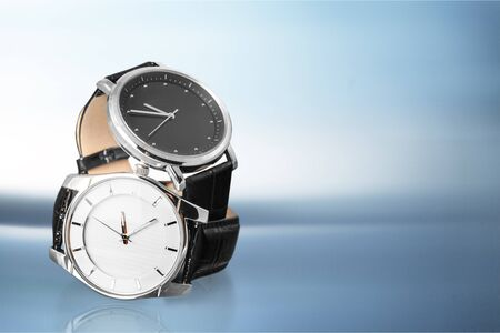 Mens mechanical watches on  background