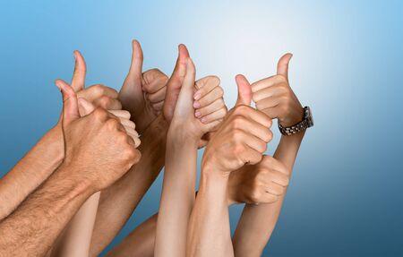 Cheering human Thumbs Up