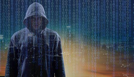 Donkere computer Hacker- en netwerkpictogrammen