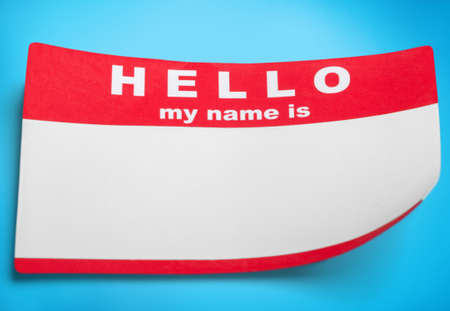 Red Hello My Name Is Tag