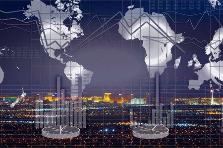 Financial market stock trade exchange finance analysis Stok Fotoğraf