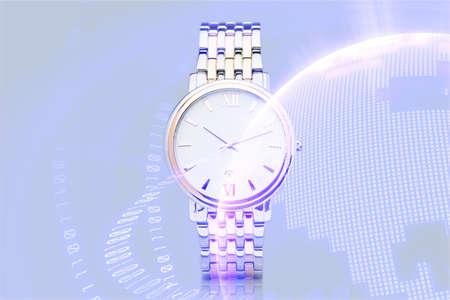 Swiss watch on white background. 免版税图像