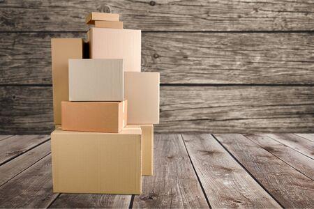 Lots of cardboard boxes Standard-Bild - 131983720