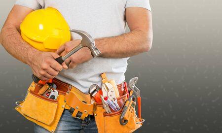 Man builder bricklayer brickwork builder building business businessman