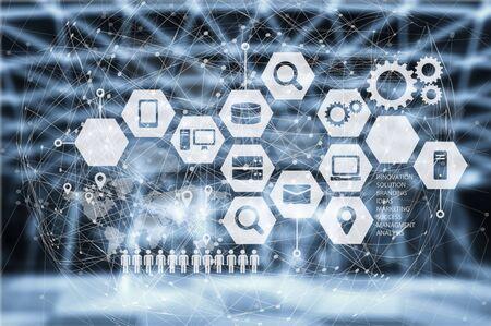 Data Management Platform concep Banco de Imagens - 128880925