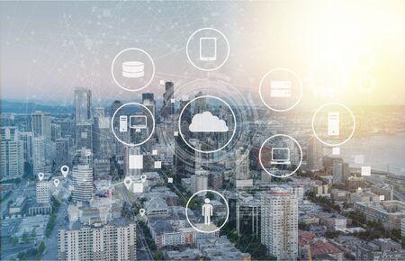 Data Management Platform concept Banco de Imagens