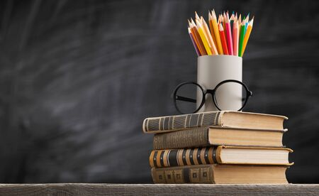 Back to school background with books Zdjęcie Seryjne