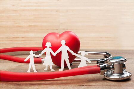 Health life aid cardiogram care chain Zdjęcie Seryjne - 128901317