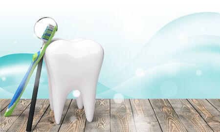 Dentist human teeth toothbrush dental hygiene white isolated three-dimensional shape 免版税图像