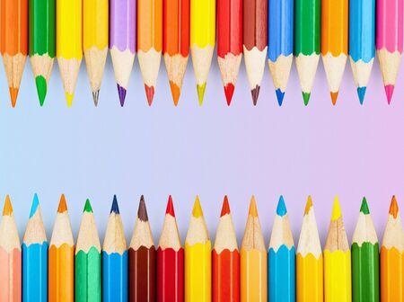 School colorful pencil Stok Fotoğraf