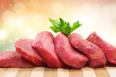 Fresh Raw Meat Background on  background Stok Fotoğraf