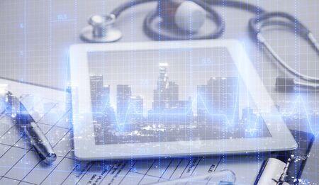 Medical examination and healthcare business graph Stok Fotoğraf