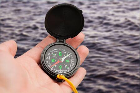 Compass, navigational compass, travel compass, lost compass, 스톡 콘텐츠