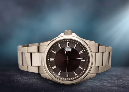 Mens mechanical watch on  background