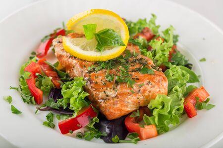 Salmon Dinner Imagens