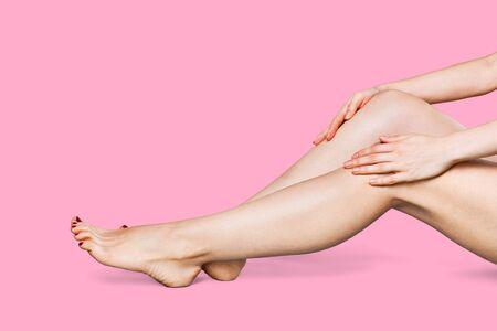 Photo of nice woman long leg Reklamní fotografie