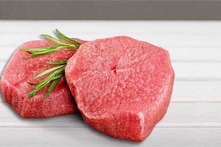 Two Raw Steaks Banco de Imagens