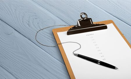File Folder with pen and paper  on  background