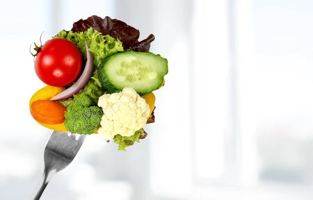 Fresh Salad (Clipping Path) Stockfoto