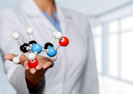 Molecular structure model in hand