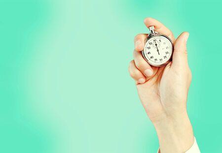 Cronómetro en mano humana, temporizador
