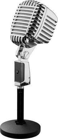 Microphone microphone vintage équipement audio microphone radio diffusion isolé à l'ancienne