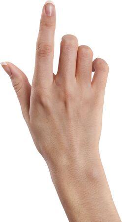 Pointing point hand hand gesture gesture index finger women 写真素材