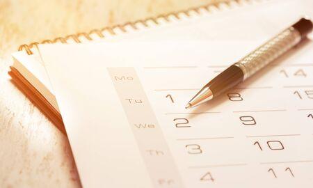 kalender en pen