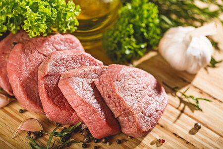 Raw meat pork and Vegetables Zdjęcie Seryjne