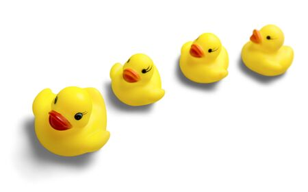 Rubber Ducks Family 免版税图像