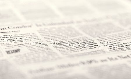 Newspaper backdrop texture, business background