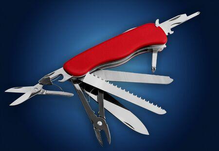 Multi-Tasking metal Penknife 写真素材