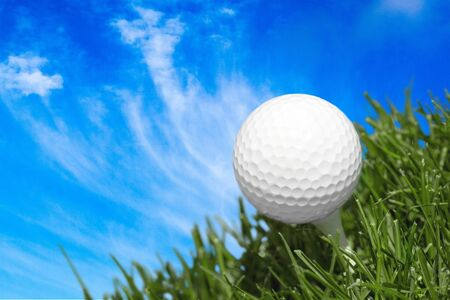 Golf Ball with Puffy Clouds