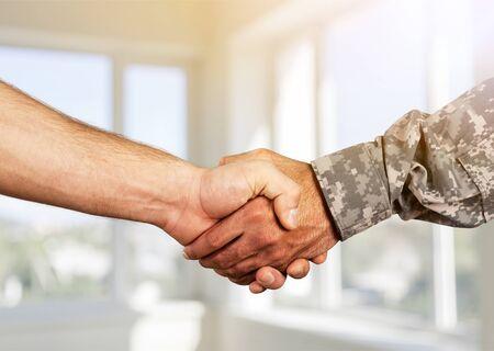 Business Agreement Handshake close up