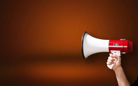 Megaphon Aufmerksamkeit Hintergrund Werbung Verstärker Ankündigung Ankündigung