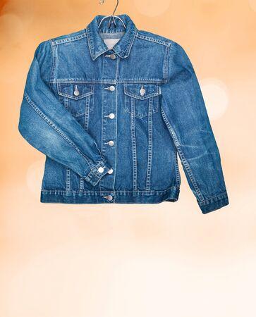 Denim Jacket on orange bokeh