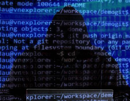 Cyber hacker ataque seguridad oscuro crimen digital