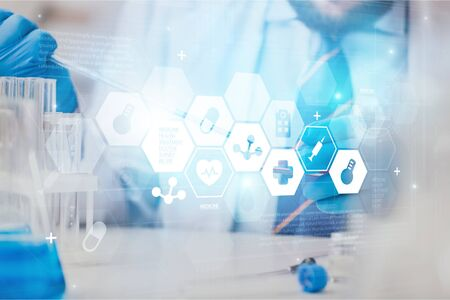 Scientist make chemical analyzes in the laboratory Stockfoto