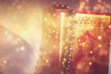 Islamic Book Koran with rosary