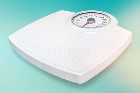 Bathroom scale isolated in white