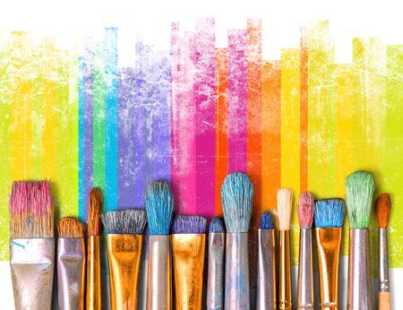 Pinsel Kunst malen Kreativität Handwerk Hintergründe Ausstellung Standard-Bild