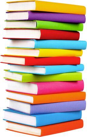 Stack of blank textbooks - isolated image Reklamní fotografie