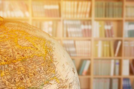 Vintage globe isolated on background Stockfoto