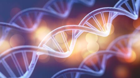 Science Biotechnology DNA illustration and abstract illustration Stok Fotoğraf - 133652243