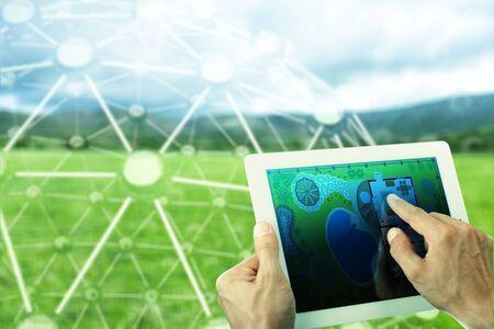Agriculture drone farming camera data precision smart Stockfoto